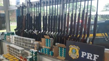 PRF faz a maior apreensão de armas e munição em Minas Gerais