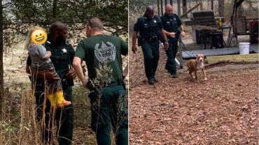 Pitbull protege menino de 3 anos perdido em floresta até a chegada do resgate nos EUA
