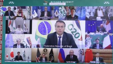 """Reforma da OMC é """"elemento-chave"""" para economia, diz Bolsonaro no G20"""