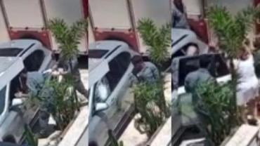 Bebê fica preso em carro e é resgatado pelos bombeiros em Jundiaí (SP)