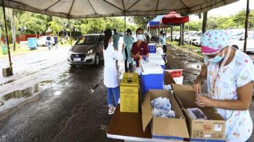 DF receberá doação de alimentos em pontos de vacinação