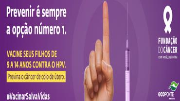 Fundação do Câncer lança campanha nacional #VacinarSalvaVidas