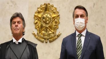 Fux e Bolsonaro conversam sobre indicação de vaga ao STF