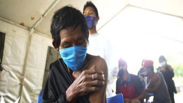 Covid-19: 82% dos indígenas receberam 1ª dose, diz Ministério da Saúde