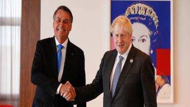 Presidente Bolsonaro se reúne com primeiro-ministro britânico nos EUA