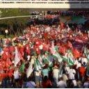 Manifestantes fazem protesto a favor de Dilma