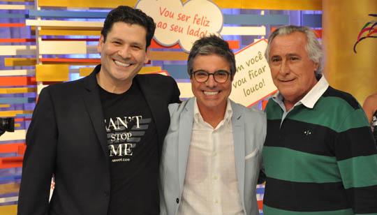 João Kléber com Elias Abrão e Leleco Barbosa