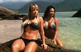 Leoas Patr�cia e Renata fazem ensaio sensual na