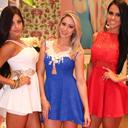 Dai Macedo, Carol Narizinho e Aline Riscado amea�am abrir vestidos em evento
