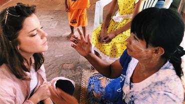 "Alice Wegmann descobre ""protetor de sol natural"" em visita a Myanmar"