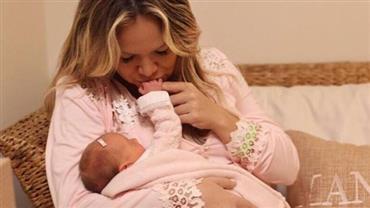Nova foto de Eliana com a filha, Manuela, emociona internautas