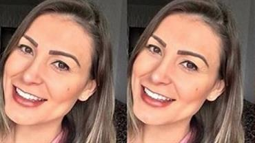 """Andressa Urach relembra passado com foto de antes e depois: """"até me assusto"""""""