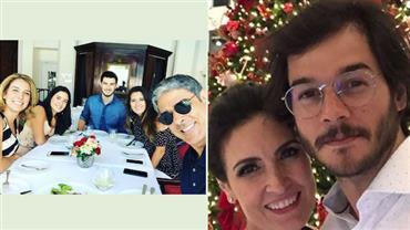 William Bonner e Fátima Bernardes passam Natal com filhos e namorados