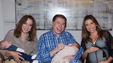 Patricia Abravanel mostra foto de Silvio Santos com sua ''netinha número 10''