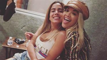 Anitta posa com Rita Ora em estúdio e sugere nova parceria internacional