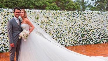 """Marina Ruy Barbosa comemora sete meses de casamento: """"É feito sorte"""""""