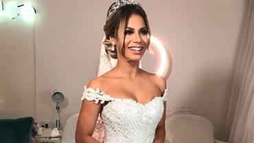 Lexa mostra machucados e vestido de noiva danificado após casamento com Mc Guimê