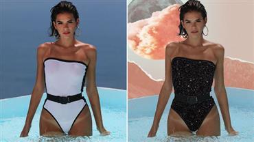 Maiô sexy usado por Bruna Marquezine surge repaginado na web e ganha elogio da atriz