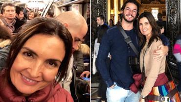 Fátima Bernardes encara metrô lotado em Paris e Túlio Gadêlha provoca a namorada