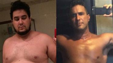 """André Marques mostra mudança após perder 70 kg: """"Estava no fundo do poço"""""""