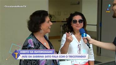 """Mãe conta susto de Sabrina Sato após bolsa estourar: """"Lavou chão do quarto"""""""