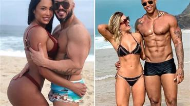 Gracyanne Barbosa curte comparação de fotos de sunga de Belo e Léo Santana