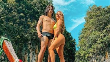 "Luísa Sonza posa com Whindersson Nunes na Tailândia e fãs brincam: ""Jane e Tarzan?"""