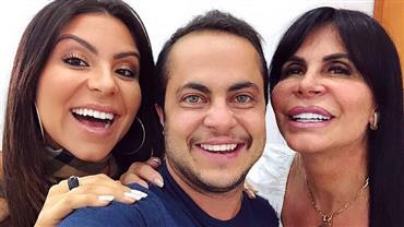 """Andressa Ferreira rebate crítica em foto com Thammy Miranda e Gretchen: """"Uma cara de cavalo falando isso"""""""