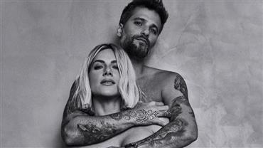 De topless, Giovanna Ewbank posa com Bruno Gagliasso
