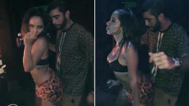 Anitta esquenta o clima ao rebolar grudadinha com Pedro Scooby em Ibiza