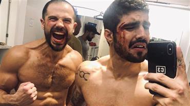 """Duda Nagle cita """"porradas acidentais"""" em cena de luta com Caio Castro"""