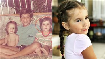 """Deborah Secco posta foto da infância e internautas reparam: """"Parece a sua filha"""""""