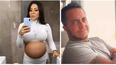 À espera de bebê com Thammy Miranda, Andressa Ferreira exibe barrigão em vídeo