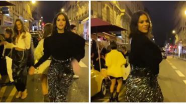 """Bruna Marquezine dança com amigas em Paris: """"Não pode ouvir som, que balança a bunda"""""""