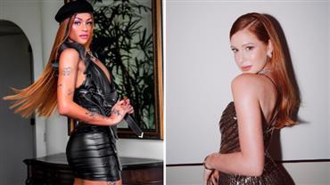 Pabllo Vittar surge ruiva ao posar com roupa de couro e confunde Marina Ruy Barbosa