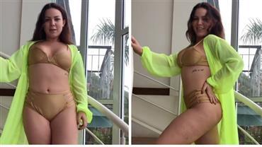 Ex-BBB Maria Cláudia posa de biquíni e conta segredo para corpo perfeito