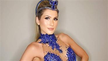 """Lívia Andrade responde """"alerta"""" sobre magreza ao posar com vestido transparente"""