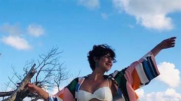 Fernanda Paes Leme mostra curvas com biquíni branco na República Dominicana