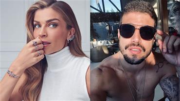 Nua? Grazi Massafera surge sexy em foto sem make e Caio Castro solta palavrão