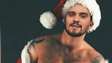 Luan Santana posta montagem sexy em que surge de Papai Noel e fãs fazem pedidos ousados