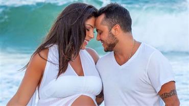 Esposa de Thammy Miranda, Andressa Ferreira posta primeira foto de Bento