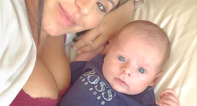 """Andressa Ferreira chama a atenção para bochechas do filho: """"Você também apertaria?"""""""