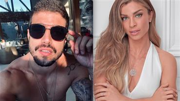Caio Castro posta foto com Grazi Massafera no Valentine's Day e assume romance