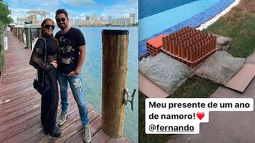 """Maiara, da dupla com Maraisa, """"trolla"""" Fernando Zor em comemoração de um ano de namoro"""