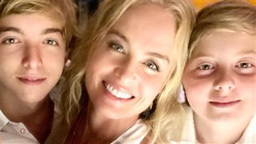 """Luciano Huck posta foto de Angélica com os filhos e faz textão de Dia das Mães: """"É tudo por ela''"""