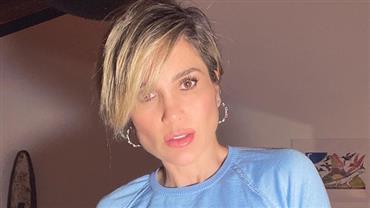 """Com maiô branco, Flávia Alessandra relembra foto na praia e gera reações: """"Coração chega errar as batidas"""""""