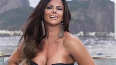 Viviane Araújo deixa pernões em evidência ao posar com look ousado