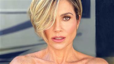 Aos 46 anos, Flávia Alessandra posa nua para celebrar 10 milhões de seguidores