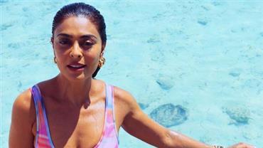 """Aos 41 anos, Juliana Paes ostenta boa forma em cenário paradisíaco e fã exalta: """"Que mulher"""""""