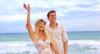 Em praia de Alagoas, Karina Bacchi casa-se com Amaury Nunes